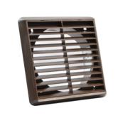Square Grill 140mm Brown