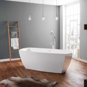 April Anston Freestanding Bath White 1750 x 750mm