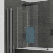 Kudos Inspire 2 Panel 6mm In-Swing Bath Screen & Rail 950mm Left Hand