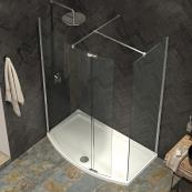 Ultimate 2 Wetroom Curved Panel 1200mm