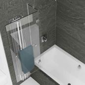 Kudos Inspire 2 Panel 6mm Out-Swing Bath Screen & Rail 950mm Left Hand