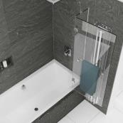 Kudos Inspire 2 Panel 6mm Out-Swing Bath Screen & Rail 950mm Right Hand