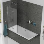 Kudos Inspire 2 Panel 8mm In-Fold Bath Screen 875mm Left Hand