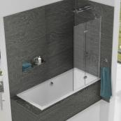 Inspire 2 Panel In Fold Bath Screen 875mm Right Hand