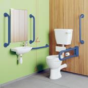 Doc M Low Level Lever WC With Blue Rails