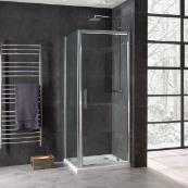 Oceana Emerald 8mm Pivot Door 760mm with Crystal Clear Glass