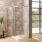 Oceana Crystal 6mm Quadrant Door 1000 x 1000mm with Crystal Clear Glass