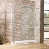 Oceana Crystal 6mm Sliding Door 1600mm with Crystal Clear Glass
