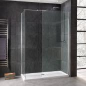 Emerald 8mm Wetroom Glass Panel 700mm Inc Stabilising Bar