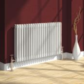 Reina Colona 3 Column Rad 300 x 1190mm White