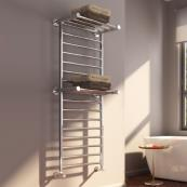 Adena Designer Towel Radiator Polished Stainless Steel 532 x 1300mm
