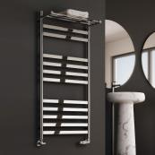 Alento Designer Towel Radiator Polished Stainless Steel 530 x 720mm