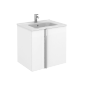 Onix 2 Door Wall Unit & Basin White 600mm