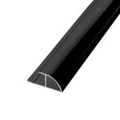 Showerwall Quadrant Trim Black Silk 2500mm