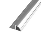 Showerwall Quadrant Trim Bright Silver 2500mm