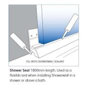 Showerwall Showerseal White PVC 1800mm