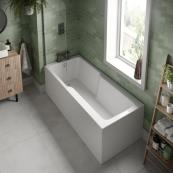 Evolve Single Ended Shower Bath with Panel & Screen 1700 x 750mm