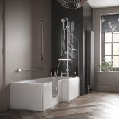 Bathe Easy Solarna Walk In Shower Bath 1700 x 700mm Left Hand